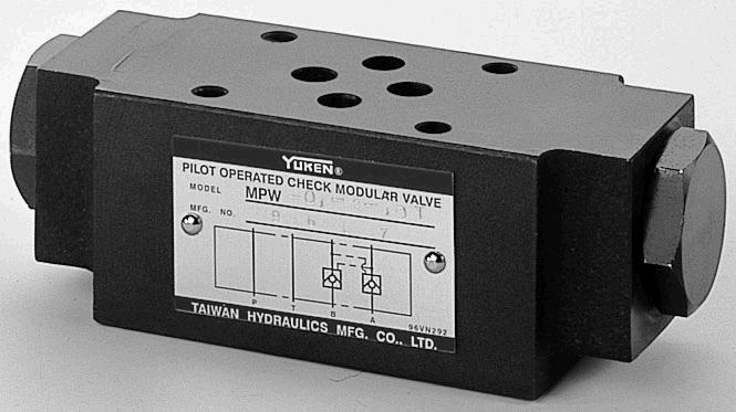 MPA,MPB,MPW,MPDA,MPDB,MPDW叠加式先导单向阀